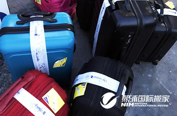 从纽约海运行李回上海